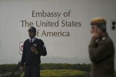 US embassy in New Delhi  A US diplomat in New Delhi was headed for home on Saturday (January 11) after being expelled in a bitter row over an Indian envoy's arrest that has seriously strained ties between the two countries.