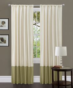 Look at this Green Ashlyn Curtain Panel on #zulily today!