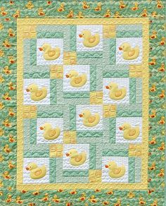 Turn Around Baby ducky quilt pattern