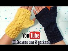Fingerless Gloves Knitted, Arm Warmers, Youtube, Knitting, Amanda, Outfits, Ideas, Fashion, Knit Mittens