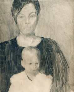 "Saatchi Art Artist Maurice Sapiro; Drawing, ""Mother And Child"" #art"