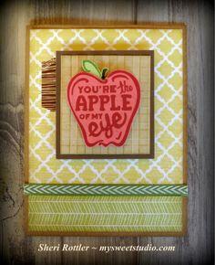 My Sweet Studio / Sheri Rottler: May Stamp of the Month! #Skylark #StripeEmbossingFolder