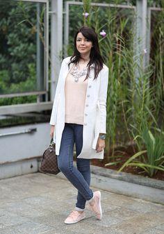 Calça jeans skinny com poá Topshop