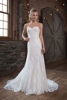 7afbdbe630 Style 1121  Allover Chantilly Lace Gown with Sweetheart Neckline