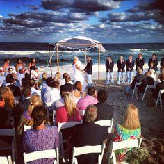 Nautical beach wedding!