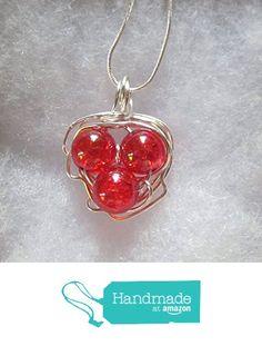 Birds Nest Pendant Necklace, Red Crackle Glass, Mother's Necklace, Nest Pendant from Andrea Lapins Art https://www.amazon.com/dp/B01GWODOA0/ref=hnd_sw_r_pi_dp_wCCDxb4TDMEVV #handmadeatamazon