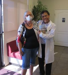 Me and one of my doctors.