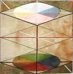 Hilma af Klint - Grupp IX/SUW, nr. 23, Svanen nr. 23, 1915. HAK 171. Kat 111. 152,5 x 150 cm