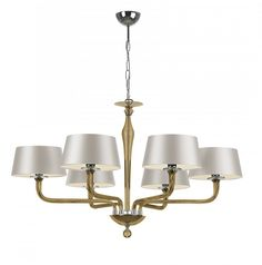 Special Order Design: Elegant Contemporary Golden Glass Chandelier * Dia: 40 inches * Over 100 Custom Shades Options