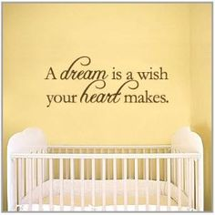 A dream is a wish your heart makes Vinyl Wall Quote by 7decals