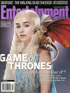 Entertainment Weekly, Emilia Clarke,Game of Thrones,Walking Dead, March 2012~NEW