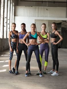 .... what a Team!... Stella Maxwell, Jasmine Tookes, Elsa Hosk, Martha Hunt and Romee Strijd for Victoria's Secret Sport fall 2015 campaign