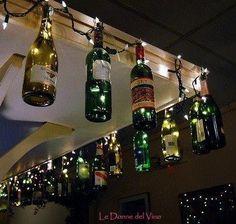 wine bottle crafts | DIY wine bottle crafts / Fun outside wine bottle Christmas decorations ...