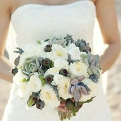 This vintage, eclectic wedding is absolutely gorgeous... and this bouquet is just one little glimpse!