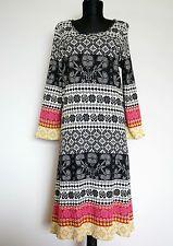 GUDRUN SJODEN Multi Color Floral Cotton Dress, Size:M