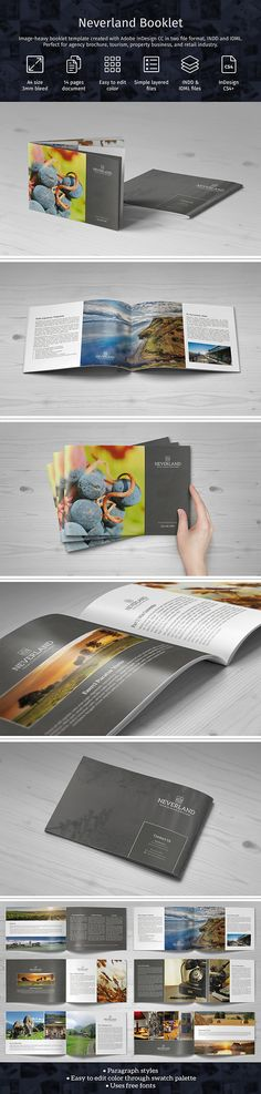 Image-heavy booklet template (Neverland Booklet) now with Paragraph styles and editable logo. Use our link below to buy. It won't cost you extra, and we'll earn some money --> https://crmrkt.com/6A0M0