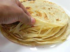 lachha paratha | multi layered indian bread | flaky layered paratha - YouTube