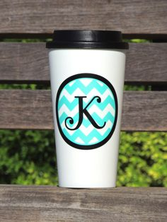 Personalized coffee tumbler coffee tumbler by ShopAroundTheCorner3