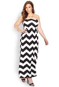 Sunny Days Chevron Dress | FOREVER21 PLUS - 2000107838