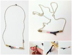 DIY Twig Necklace. A cute Anthropologie hack