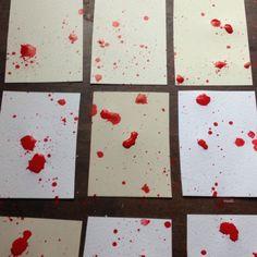 Blood splatter invitations done!