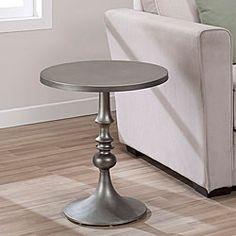 Overstock.com - Bailey Steel Grey Accent Table