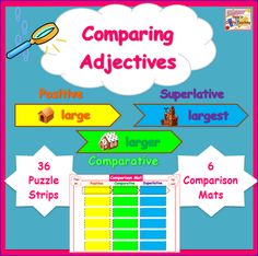 Adjective Activities - Tiered for Positive, Comparative and Superlative Adjectives $