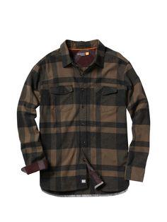 Men's Beacon Point Long Sleeve Flannel Shirt
