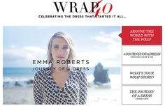 La Journey of a dress d'Emma Roberts pour DVF