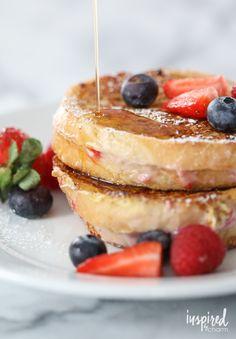 Berry Stuffed French Toast   inspiredbycharm.com #IBCbreakfastweek