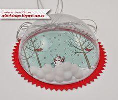 Splotch Design - Jacquii McLeay Independent Stampin' Up! Handmade Ornaments, Handmade Christmas, Christmas Crafts, Christmas Baubles, Christmas Tree Decorations, 1st Grade Crafts, Globe Crafts, Globe Ornament, Mason Jar Gifts