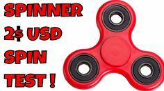 Hand Spinner New Generation Plastic Version ABEC 9 Spin TEST not 3D Prin...