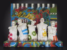 Nancy Kubale Existo (Latin Exist/Be) 2014 Ceramic Figures, Clay Figures, Sculpture Clay, Ceramic Clay, Clay Art, Art Dolls, Childhood, Figurative, Image