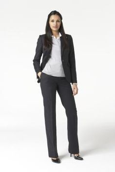 Dark Navy Pant Suit - Women's Business Professional - Amazon.com ...