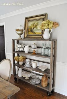 Early Fall House Tour by Dear Lillie ---- If the dining room is too small for a buffet then I would like this. Dear Lillie, Up House, Bar Furniture, Furniture Inspiration, Decoration, House Tours, Fall Decor, Seasonal Decor, Farmhouse Decor