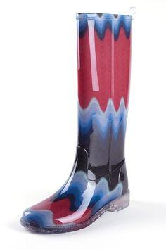 Missoni Wavy Print Rain Boot by Blowout on @HauteLook