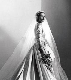 Nan Kempner - wedding to Thomas Kempner, 1952