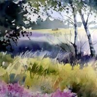 watercolors by Jean-Claude Papeix