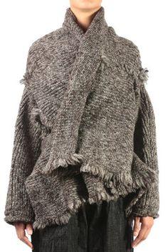 chunky knit wool jacket - Y'S Yohji Yamamoto