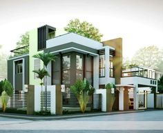 Modern House Designs Series Features A 4 Bedroom 2 Story House Design. The  Ground Floor Features A 2 Car Garage Dining, Kitchen And 1 Bedroom.