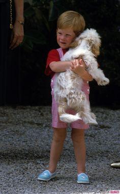 """Precious"" - Prince Harry with his dog..."