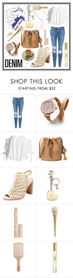 """#distresseddenim"" by edin-levic ❤ liked on Polyvore featuring Frame, Shinola, Caroline Constas, Renvy, Aspinal of London, Chantecaille, Philip Kingsley, Marc Jacobs and distresseddenim"