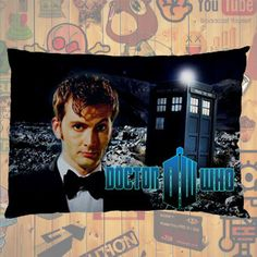 """NEW HOT!!! Doctor Who Tardis David Tennant Quotes Pillow Case 30""""X20"""" One Sides Pillowcase for Gifts & Followers #05"""