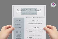 17 best chic modern resume cv templates images on pinterest