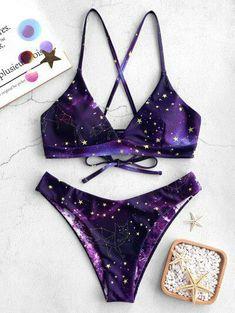 Star Bikini, Bandeau Bikini Set, Haut Bikini, Bikini Swimwear, Push Up Bikini, Purple Bikini Set, Bikini 2018, Triangle Bikini, Bikini Bottoms