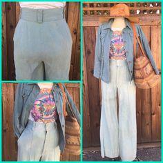 Vintage 70's Denim High Waisted Bell Bottoms Flares Jeans Size 5  | eBay
