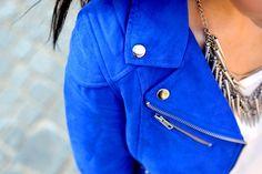 lazer blue Moto jacket