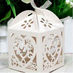 Cheap 2015 spedizione gratuita wedding favore di partito box love heart laser…