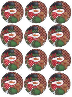 Bottle Cap Magnets, Bottle Cap Crafts, Bottle Caps, Christmas Printables, Christmas Themes, Christmas Crafts, Christmas Ornaments, Holiday Decor, Bag Toppers