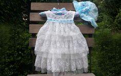 Baby Jurk en Hoed Brilliant Lace-baby jurk-baby door TheBabyRose